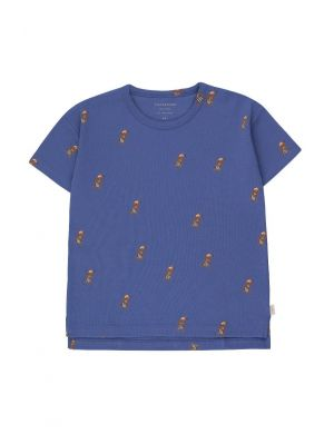 Tiny Cottons Jogging Dog Tee Iris Blue/Cinnamon