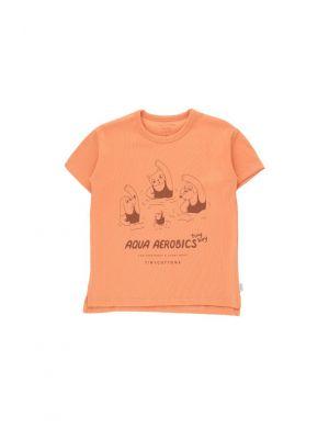 Tiny Cottons Aqua Aerobics Tee Light Papaya/Nut Brown