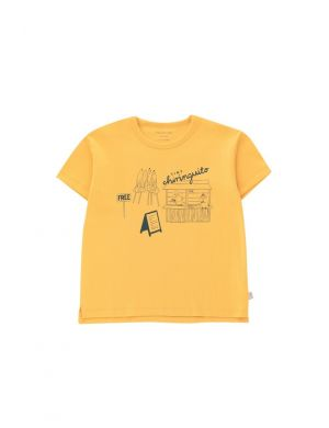 Tiny Cottons Central Beach Tee Yellow/Dark Teal