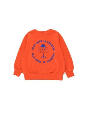 Tiny Cottons Wishing Table Sweatshirt Red/Iris Blue