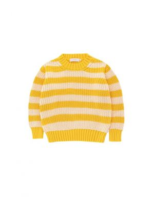 Tiny Cottons Stripes Sweater Yellow/Light Cream