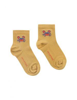 Tiny Cottons Crab Short Socks Sand