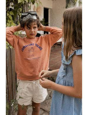Tiny Cottons Gambitas Treats Sweatshirt Cinnamon/Iris Blue