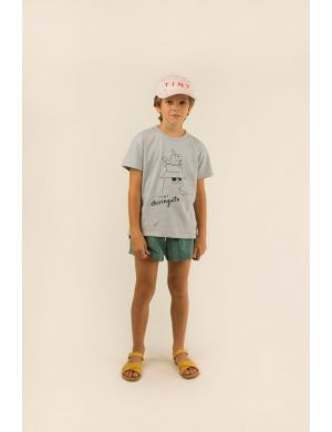 Tiny Cottons Friends Tee Pale Grey/Ink Blue