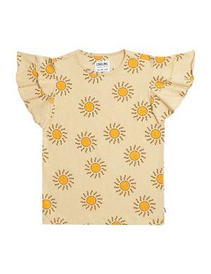 CarlijnQ Ruffled T-shirt Sunshine