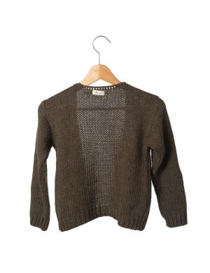 Little Hedonist Knitted Vest Tate Brown Melee