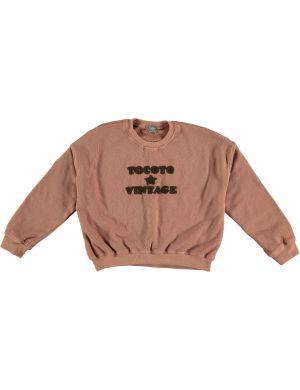 Tocoto Vintage Oversized Sweatshirt Pink